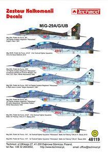 Techmod Decals 1/48 MIKOYAN MiG-29A MiG-29G & MiG-29UB FULCRUM Polish Air Force