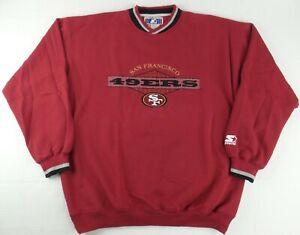 Vintage Starter NFL San Francisco 49ers Crew Neck Sweater Size Mens XXL