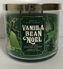 BATH & BODY WORKS VANILLA BEAN NOEL SCENTED 3-WICK 14.5 OZ LARGE FILLED CANDLE