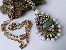 Halskette Kette Statement Perlen Anhänger Modeschmuck NEU