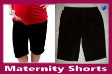 Maternity BLACK TAILORED LONG WORK SHORTS Sz Large L - Cotton Blend - New 91502