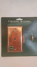 CREATIVE ACCENTS -CABLE TV OUT, POLISHED COPPER STEEL , NEW