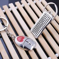 Popular 1 Pair Keychain New Key Rings Keychain Lover Pendant Keyring