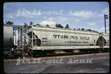 Original Slide - Sterling Salt ACFX 48959 Covered Hopper Car May 1975