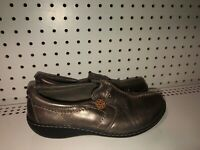 Clarks Ashland Glow Womens Leather Slip On Loafers Shoes Flats Size 7 Brown
