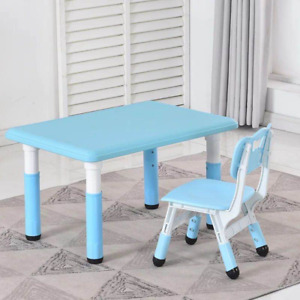 Children's adjustable Desk and Chair Set_ for kids 2-13 year old