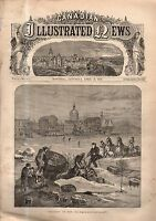 1870 Canadian Illustrated News April 16 - Queen Victoria at Buckingham Palace