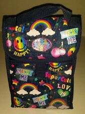 Lisa Frank Insulated Lunch Bag Box Denim Jeans Rainbows Lucky Smiley Face Stars