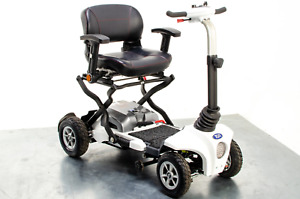 TGA Maximo Used Mobility Scooter 4mph Folding Lithium Pneumatic Suspension White