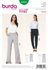 Burda Ladies Plus Size Easy Sewing Pattern 6859 Elastic Waist Trousers (Burda...