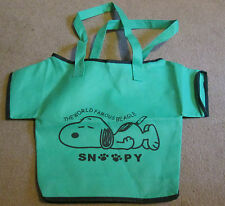 PEANUTS - Snoopy Canvas T-Shirt Shaped Tote Bag.   NEW