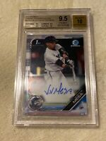 VICTOR VICTOR MESA 2019 Bowman Chrome 1st Auto Rookie RC BGS 9.5 GEM MARLINS SP