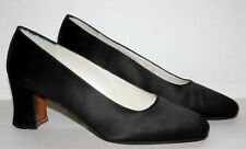 Stuart Weitzman Black Classic Pumps Heels Satin Shoes Womens 7B - More Like 6.5