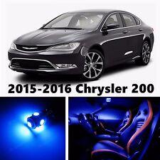 14pcs LED Blue Light Interior Package Kit for 2015-2016 Chrysler 200