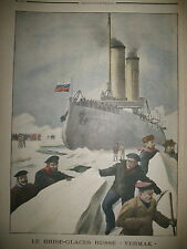 BANQUISE BRISE GLACE RUSSE YERMAK GOLFE FINLANDE ELECTIONS LE PETIT JOURNAL 1902