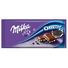 Tablette Milka de 100 gr Mélange de chocolat alpin Milka et biscuits oréo