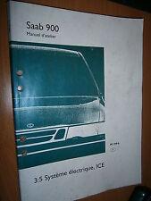 Saab 900 : manuel atelier partie 3:5 Equipement électrique ICE 1994...