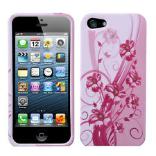 For Apple iPhone 5 5S SE HARD Protector Case Snap On Phone Cover Bloom