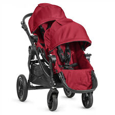 Baby Jogger City Select Double Stroller in Red with Black Frame New Open Box!!