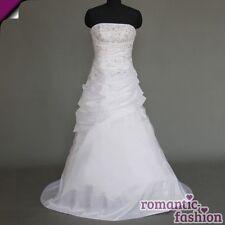 ♥Brautkleid, Hochzeitskleid in Weiß oder Creme Größe 34-54 zur Auswahl+NEU+W089♥