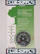 Magnetic Wood / Multifuel Stove Flue Chimney Pipe Thermometer For Efficiency