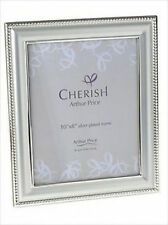 """Arthur Price Giftware : Bead Silver Plated Photo Frame Size 8"""" x 10"""""""