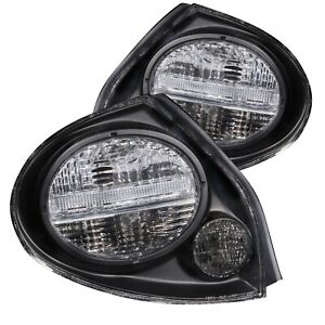 Anzo 221097 Black Clear Lens Halogen Red/White Tail Lights for 00-03 Maxima