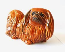 Pekingese Author's Porcelain figurine color brown NEW 2018 + Gift Box. NEW