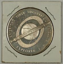 """Explorer I Sterling Silver Space Medal """"America's 1st Successful Satellite"""""""