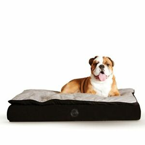 """K&H Pet Products Feather Top Ortho Pet Bed Medium Black / Gray 30"""" x 40"""" x 6.5"""""""