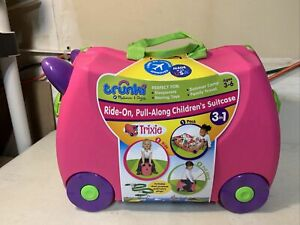 Trunki Melissa & Doug ride On Pull Along Suitcase 3 in 1 Trixie Kids