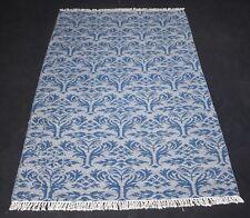 Handmade Soft Blue Color Modern Wool & Cotton Floral Kilim Decorative Area Rug