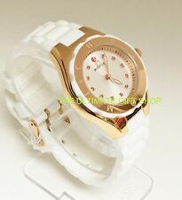 MICHELE TAHITIAN JELLY BEAN WHITE SILICONE+ROSE GOLD,DIAMONDS,WATCH-MWW12P000003