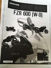 YAMAHA FZR 600 W WC WORKSHOP SERVICE MANUAL Paper copy