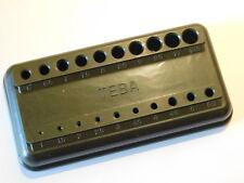 vintage TEBA support pour forets de perceuse BAKELITE mesure de diamètre DRILL