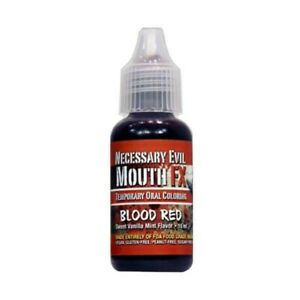 MOUTH FX, BLOOD RED MOUTH AND TEETH STAIN , SWEET VANILLA FLAVOUR