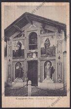 NOVARA CARPIGNANO SESIA 29 CHIESA SAN GIUSEPPE Cartolina viaggiata 1954 DIFETTO!