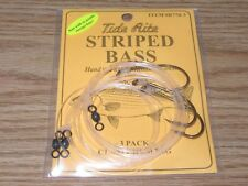 1 STRIPED BASS TIDE RITE R770-3 CLAM CHUM RIG 3 PACK SALTWATER FISH RIG MUSTAD