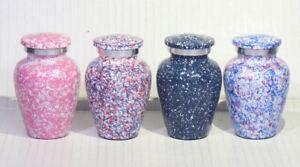 Cremation Urn | Small Urn | | Keepsake Urn | | Metal Urn| (Set of 4)