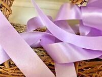 Berisfords Shade 7 Helio Lilac Double Satin Ribbon 3/7/10/15/25/35/50mm Widths