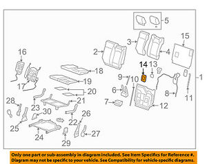 Chevrolet GM OEM 09-16 Traverse Third Row Seat-Anchor Cover Left 25956753