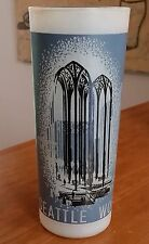 """VINTAGE WORLDS FAIR FROSTED GLASS 1962 SEATTLE 6 1/2"""" U.S. SCIENCE PAVILION"""