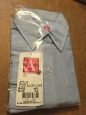 New/Sealed A+ Girls Oxford Ls Blouse - Blue - Size 10 - (School Uniform) -