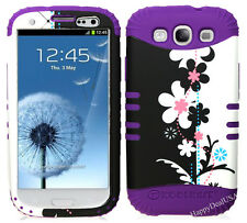 KoolKase Hybrid Silicone Cover Case for Samsung Galaxy S3 - Flower 72