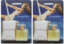 2 CELINE DION COLLECTIBLE MINIATURE PERFUME .15 FL OZ EACH COTY FREE SHIPPING US