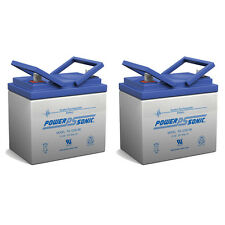 Power-Sonic 2 Pack - Invacare Wheelchairs U1 GELL Replacement Battery