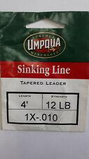 "1= UMPQUA "" Sinking Line "" Tapered Leader  4 ft 12 lb 1X-.010"