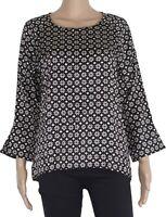 Grace Ladies Tunic Blouse Black 408 2302 Silk