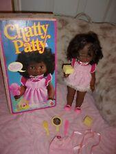 BLACK ~ AA  CHATTY PATTY DOLL w/ ORIG OUTFIT, TOYS & BOX ~ MATTEL   # 7024