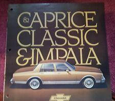 1982 CHEVROLET CAPRICE CLASSIC & IMPALA SALES BROCHURE VF